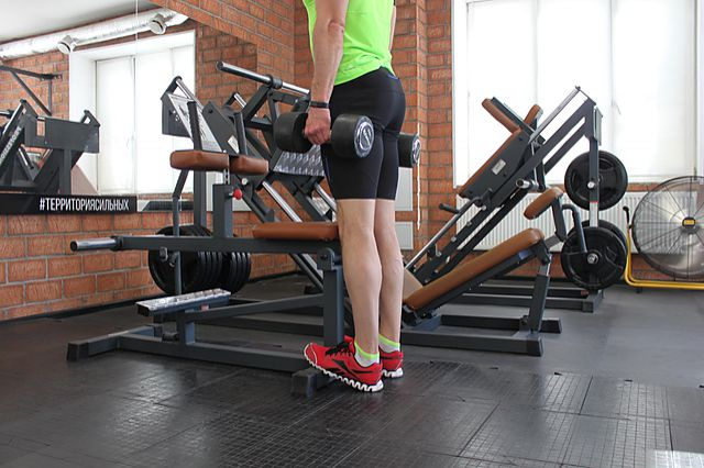 Photo of Standing Dumbbell Calf Raise exercise