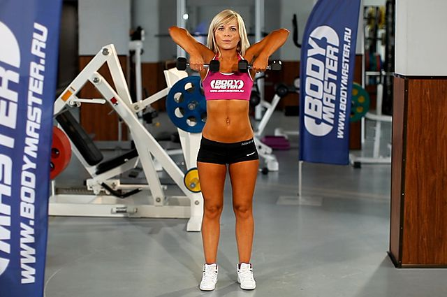Photo of Standing Dumbbell Upright Row exercise