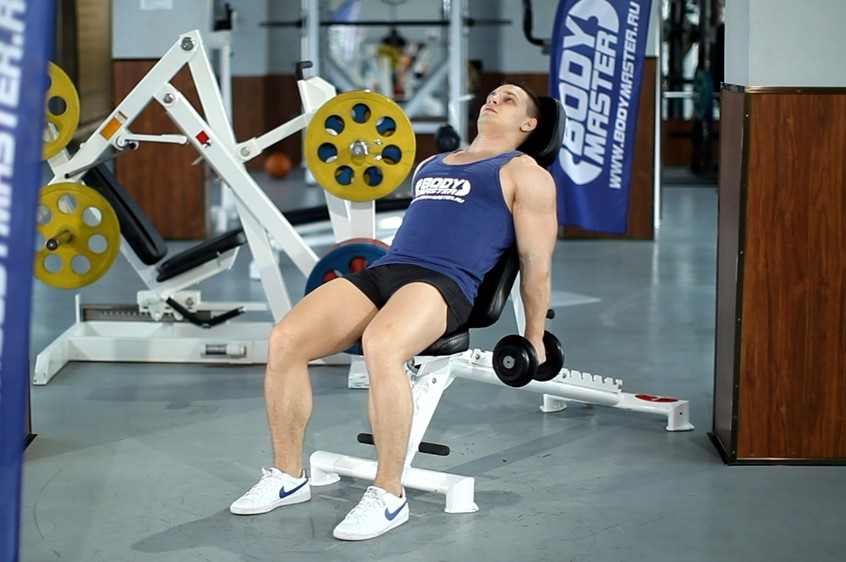 Exercise Incline Hammer Curls