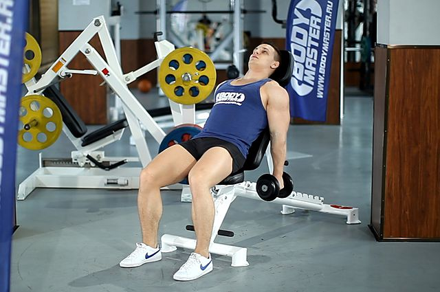 Photo of Incline Hammer Curls exercise
