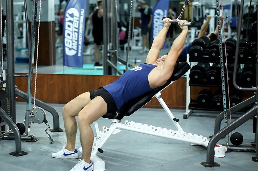 Exercise Cable Incline Pushdown