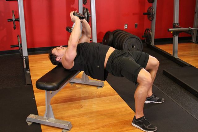 Photo of Bent-Arm Dumbbell Pullover exercise