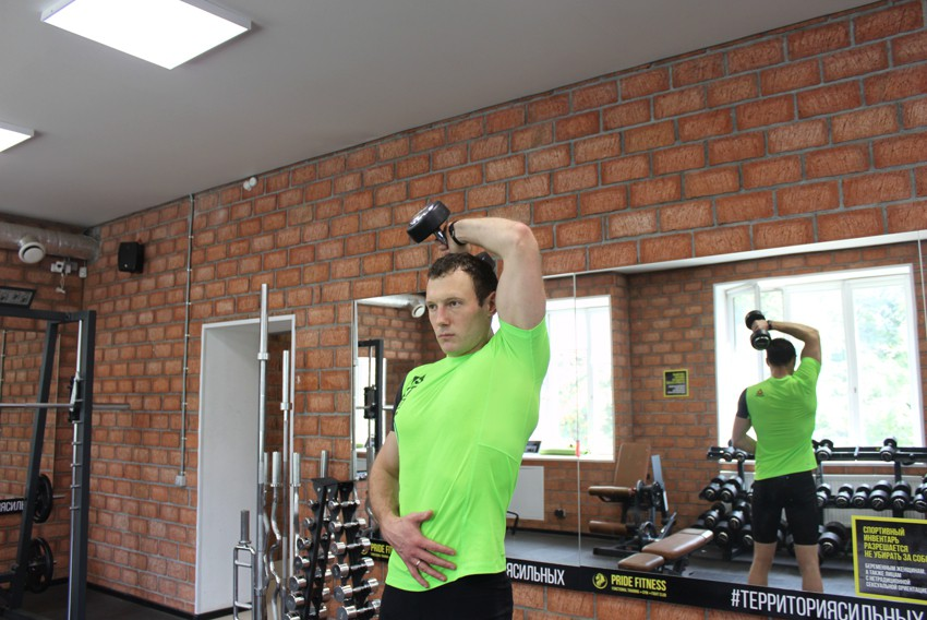 Exercise Dumbbell One-Arm Triceps Extension