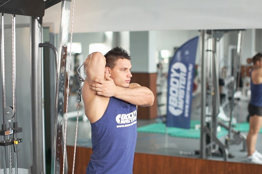 Exercise Standing Low-Pulley One-Arm Triceps Extension