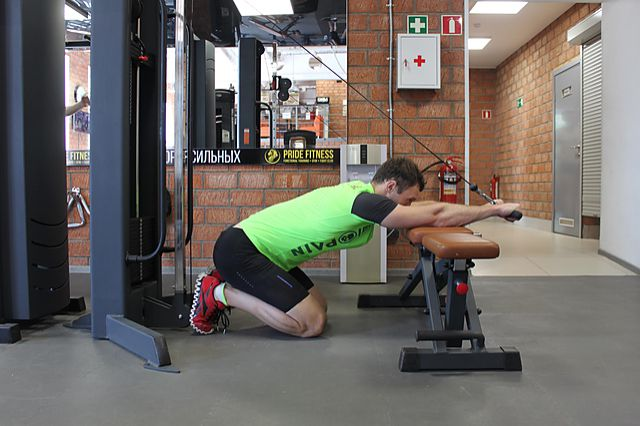 Photo of Kneeling Cable Triceps Extension exercise