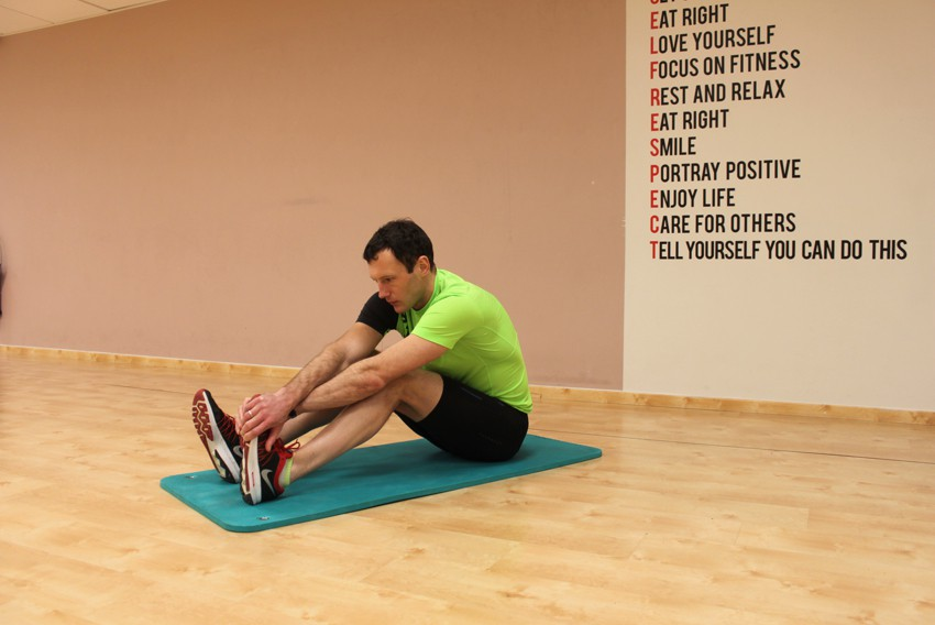 Exercise Seated Calf Stretch