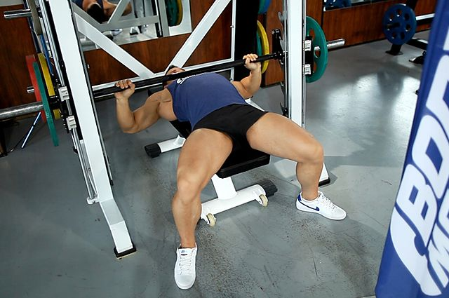 Photo of Smith Machine Bench Press exercise