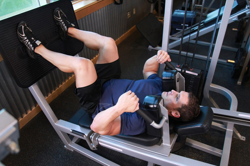 Exercise Lying Machine Squat