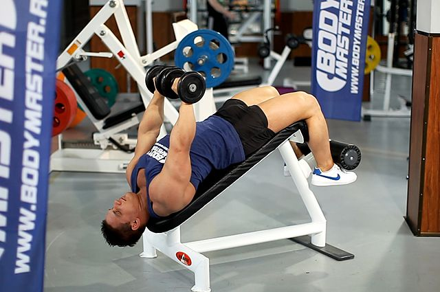 Photo of Decline Dumbbell Bench Press exercise