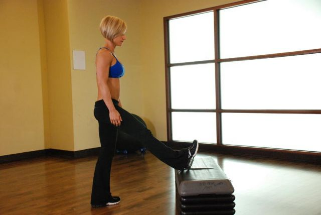 Photo of  Standing Gastrocnemius Calf Stretch  exercise