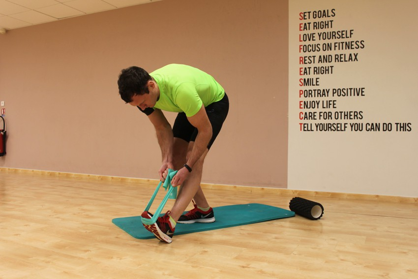 Exercise Standing Hamstring and Calf Stretch