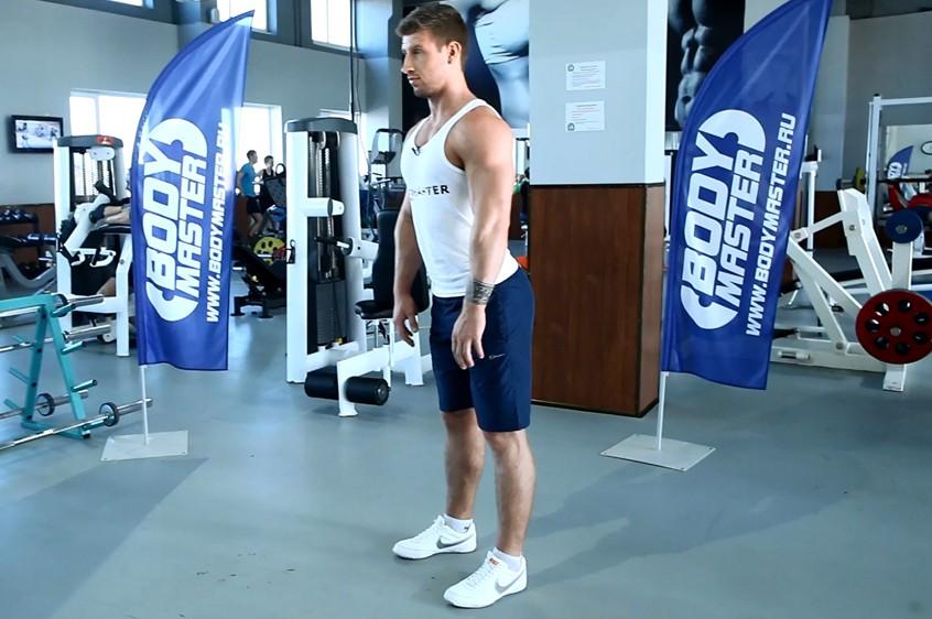 Упражнение Растяжка мышц задней поверхности бедра с помощью наклона вперед