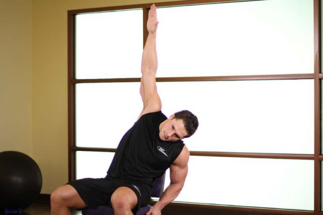 Photo of Chair Lower Back Stretch exercise