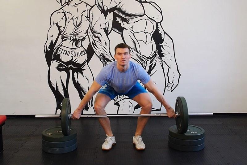 Упражнение Рывок штанги с подставок