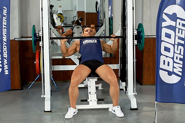 Photo of Smith Machine Incline Bench Press exercise