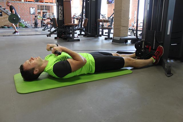 Photo of Lying Cable Curl exercise