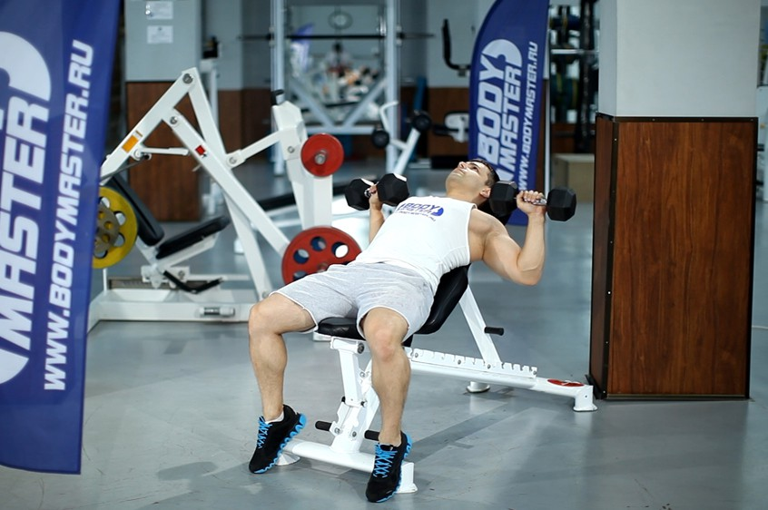 Exercise Incline Dumbbell Press