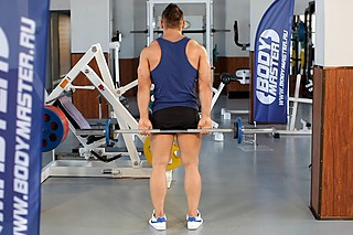 Standing Palms-Up Barbell Behind The Back Wrist Curl