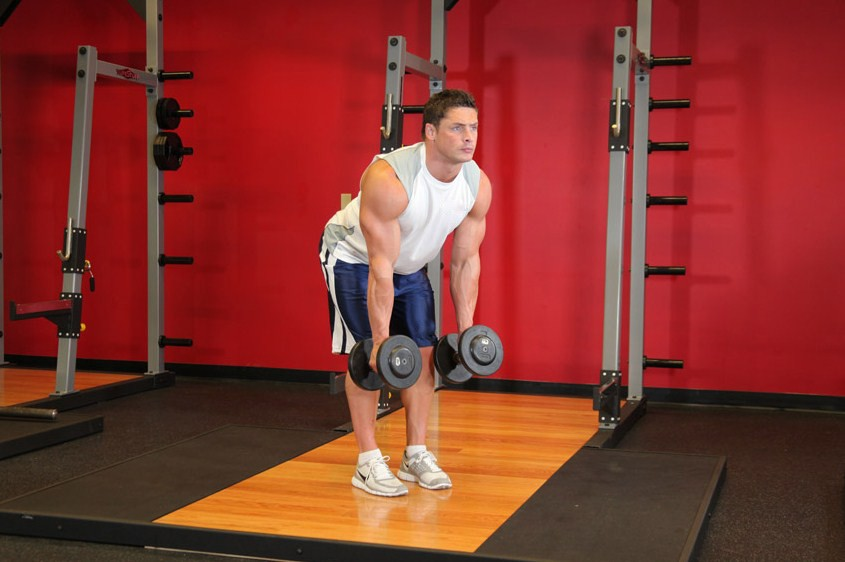 Exercise Bent Over Two-Dumbbell Row With Palms In