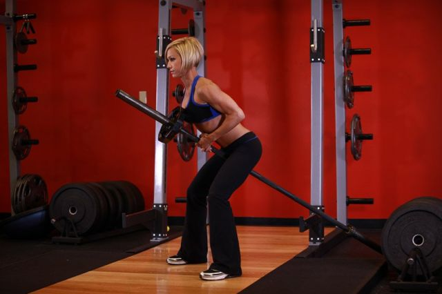 Photo of Bent Over Two-Arm Long Bar Row  exercise
