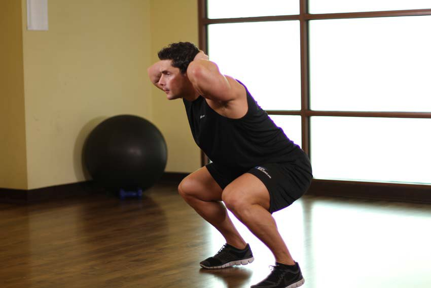 Exercise Freehand Jump Squat