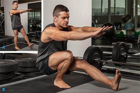 Exercise Приседания на одной ноге