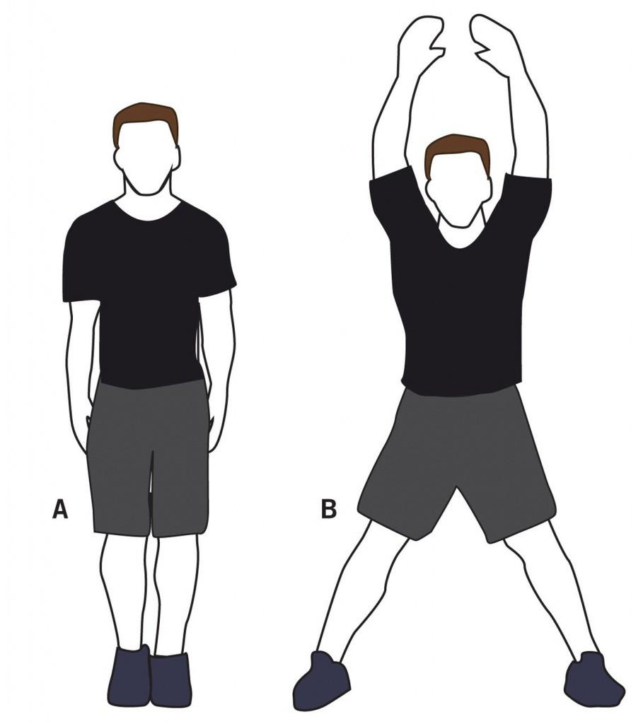 Exercise Прыжки с махом рук