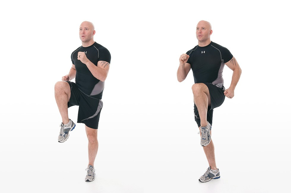 Exercise Бег на месте с высоким подниманием бедра
