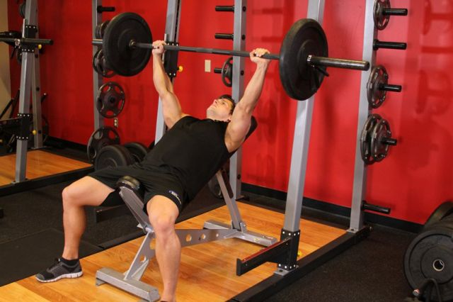 Photo of Barbell Incline Bench Press Medium-Grip  exercise