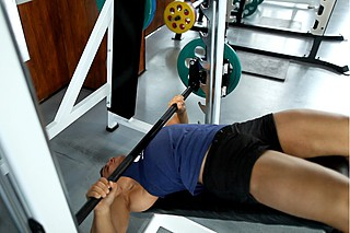 Wide-Grip Decline Barbell Bench Press