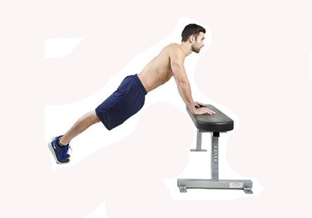 Exercise Отжимания с широким упором  от лавки