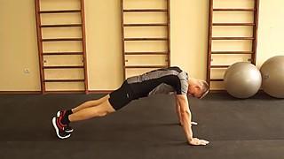 Прыжки из положения упор лежа