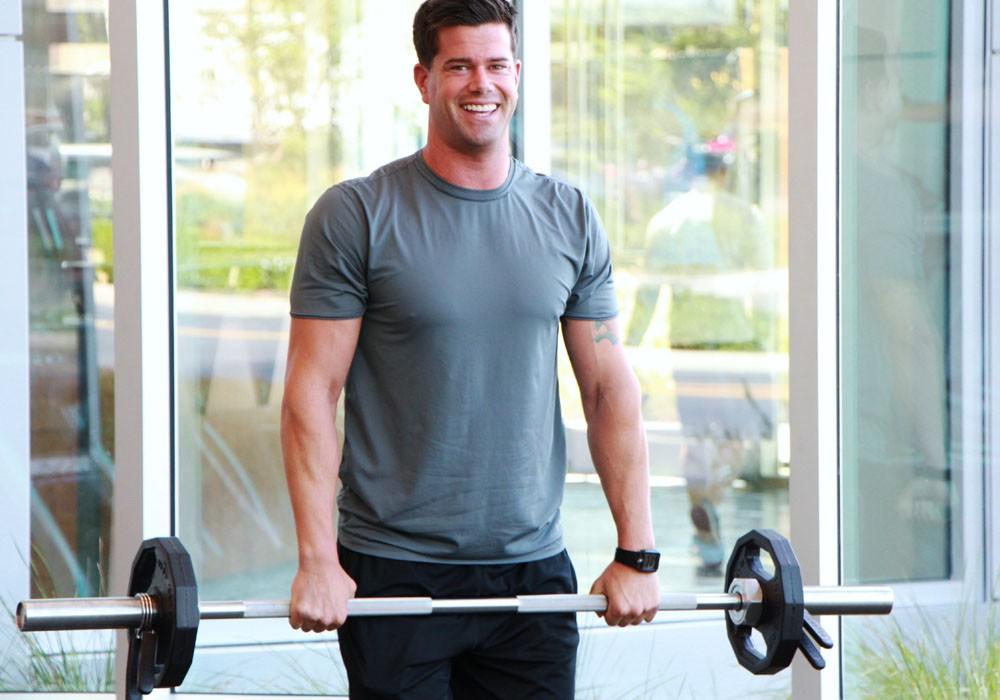 Exercise Подъём штанги перед собой
