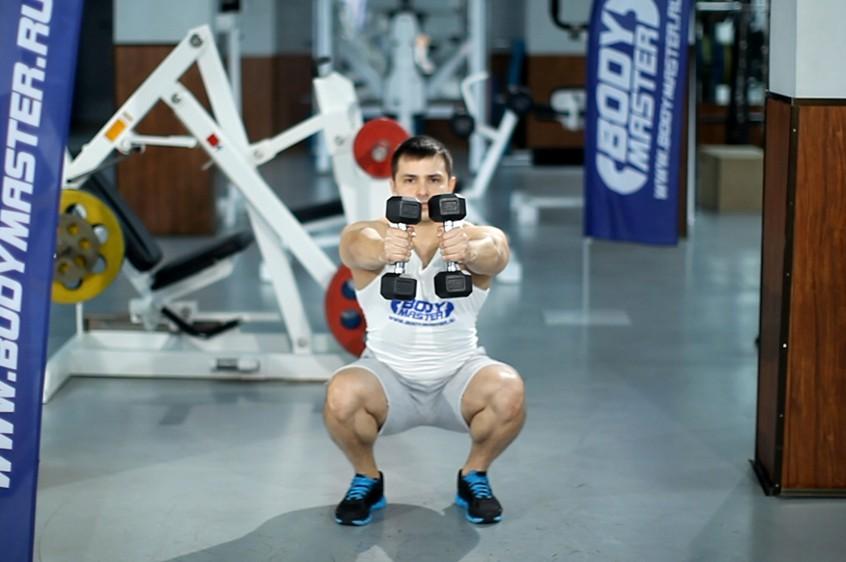 Упражнение Комплексный жим гантелей