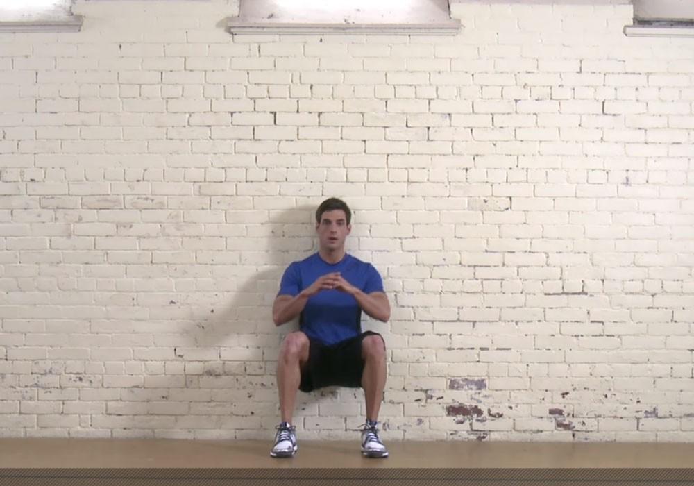 Упражнение Приседания у стены