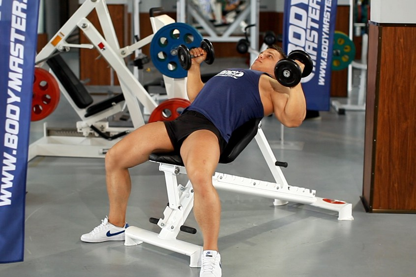 Exercise Hammer Grip Incline DB Bench Press