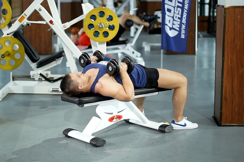 Exercise Dumbbell Bench Press with Neutral Grip
