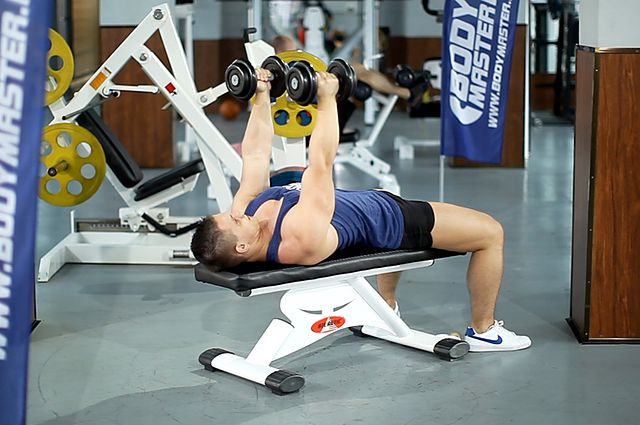 Photo of Dumbbell Bench Press with Neutral Grip exercise