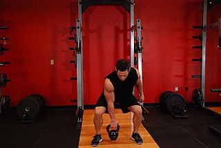 One-Arm Open Palm Kettlebell Clean