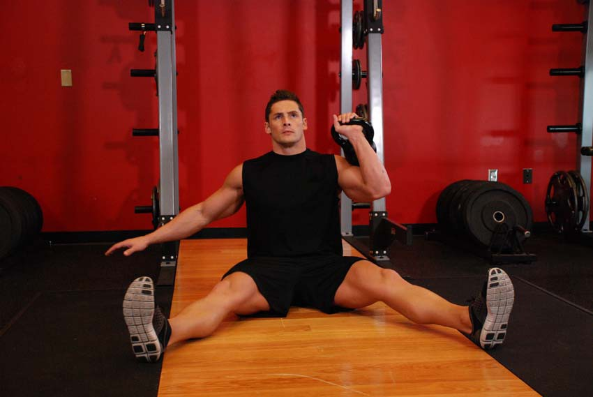 Exercise Kettlebell Seated Press