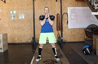 Two-Arm Kettlebell Clean