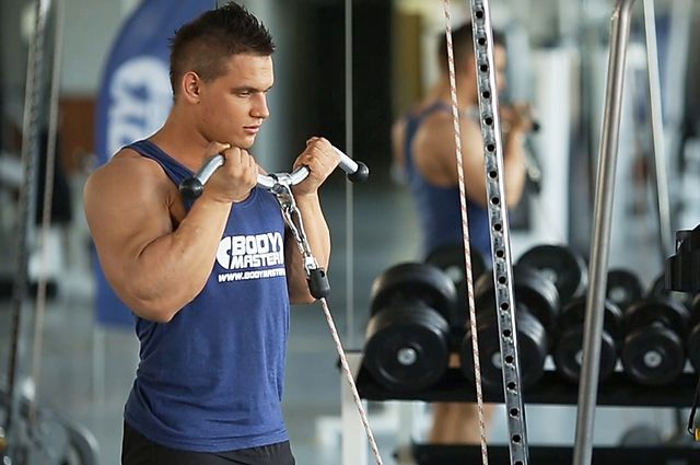 Photo of Standing Biceps Cable Curl exercise