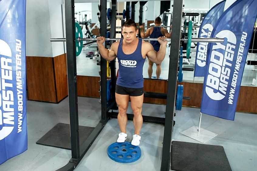 Exercise Standing Barbell Calf Raise