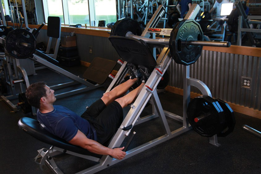 Exercise Calf Press On The Leg Press Machine