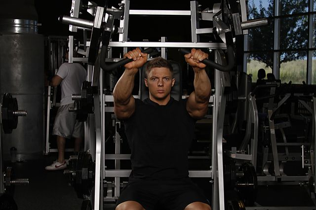 Photo of Leverage Incline Chest Press exercise