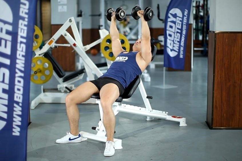 Exercise Dumbbell Incline Shoulder Raise