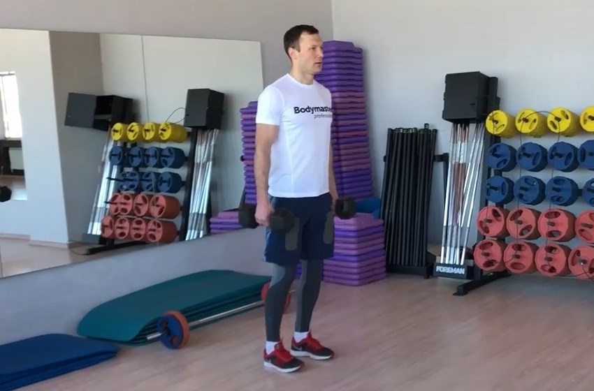 Exercise Dumbbell Rear Lunge