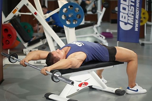 Photo of Bent-Arm Barbell Pullover exercise
