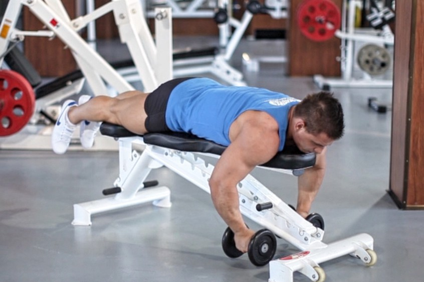 Exercise Lying Rear Delt Raise