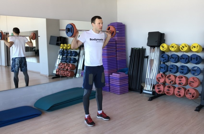 Exercise Barbell Lunge